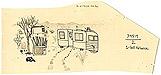 Desert Life: original drawing on hand-cut manila pattern paper by Carol Es
