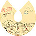 One Day I Will Go: original drawing on hand-cut manila pattern paper by Carol Es