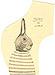 One-eared Bunny: original drawing on hand-cut manila pattern paper by Carol Es